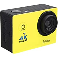 Aurorax Waterproof 4K Wifi HD 1080P Ultra Sports Action Camera DVR Cam Camcorder (Yellow)