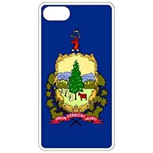 Vermont VT State Flag White - Apple Iphone 4 - Iphone 4s Cell Phone Case - Cover