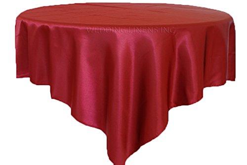 Satin Burgundy Overlay (Wedding Linens Inc. 72