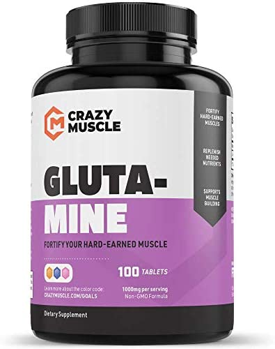 Keto Friendly L Glutamine Capsules 1000mg, Total Post Workout Supplement to Increase Muscle Recovery, Decrease Delayed Onset Muscle Soreness, Reinforce Strength Gains Heal Leaky Gut 100 Pills