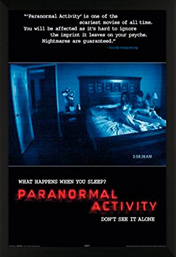 Paranormal Activity Supernatural Horror Movie Film Print (24x36 Framed Poster) by BEYONDTHEWALL® Archive