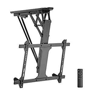 """TechOrbits Motorized TV Mount - Electric Ceiling TV Mount Indoor Outdoor for TVs 32""""-70"""" - Pull Down Electric TV Stand"""