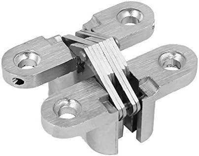 DealMux Gabinete correderas de armarios de puerta 45 mm Longitud de plegado Cruz Ocultos Bisagra tono de plata: Amazon.es: Bricolaje y herramientas