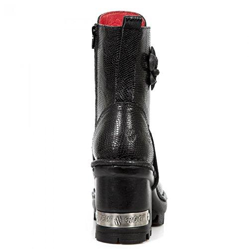 Nuovi Stivali Da Roccia M.neotyre07-c3 Gotico Hardrock Punk Damen Stiefelette Schwarz