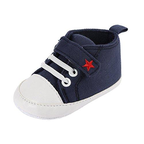 ROPALIA Baby Basic Segeltuch Turnschuh weichen Boden Prewalker Krippe Schuhe