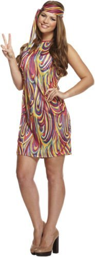 Low Cost Hippie Outfit for Ladies, Size 10-14