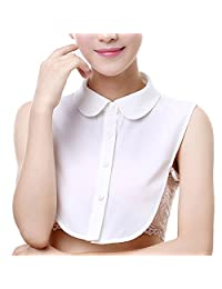AORAEM Women's Girls Fake Collar Lace Stand Vintage Half Shirt Blouse Detachable