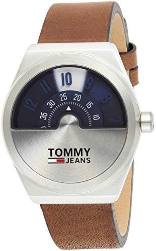 Tommy Hilfiger men's Blue Dial Dark Brown Leather Watch - 1791772