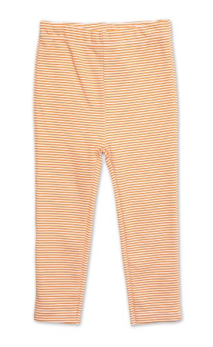 (Zutano Little Girls' Candy Stripe Skinny Legging,Orange,3T)