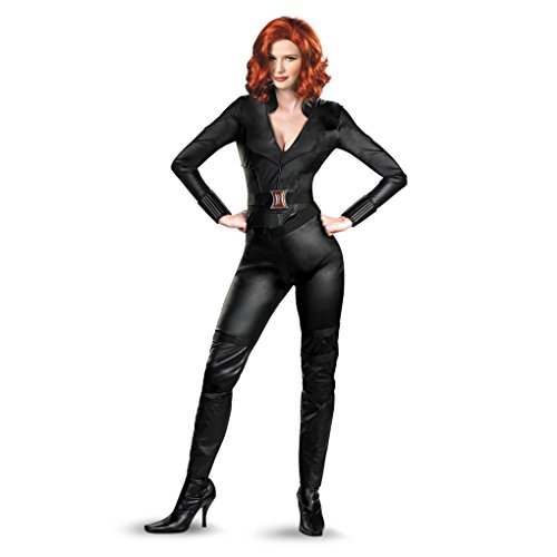 Adult Size Deluxe Avengers Movie Black Widow Costume - 4 Sizes