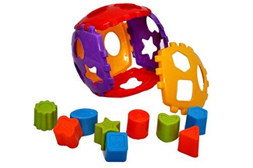 Toyshine Shape Sorter Block Set  Multicolour, 24 Pieces