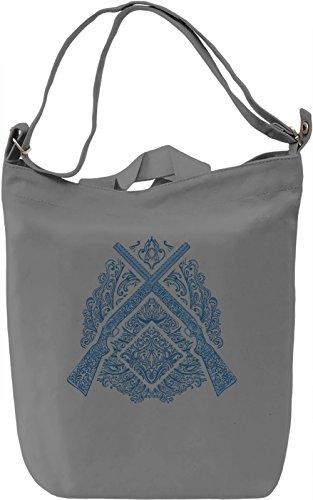 Rifles Borsa Giornaliera Canvas Canvas Day Bag| 100% Premium Cotton Canvas| DTG Printing|