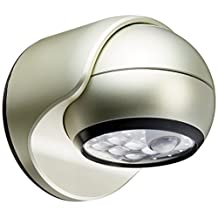 LIGHT IT by Fulcrum 20031-101 6-LED Wireless Motion Sensor Weatherproof Porch Light, Silver