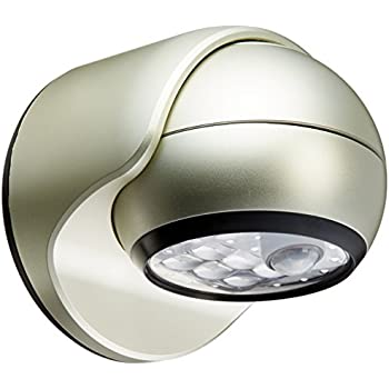 Light It! By Fulcrum 20031 101, 6 LED Wireless Indoor Outdoor Motion Sensor  Light, 6 Inch, Silver