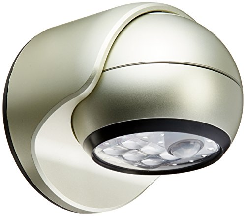 Light It! By Fulcrum, 6-LED Motion Sensor Security Light, Wireless, Battery Operated, Silver