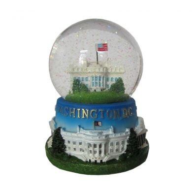 President Souvenirs White House Musical Snow Globe