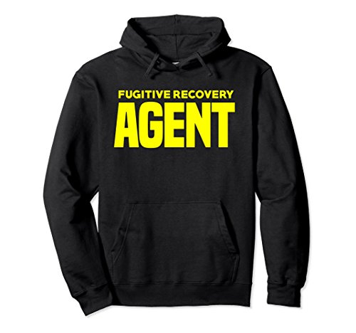 Unisex Bounty Hunter Hoodie for Fugitive Recovery Agents LEO XL: Black