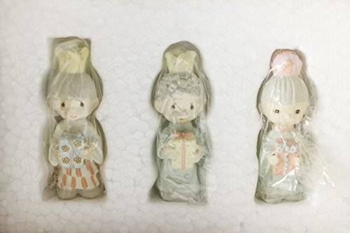 1989 Precious Moments Three Kings Miniature Pewter Set