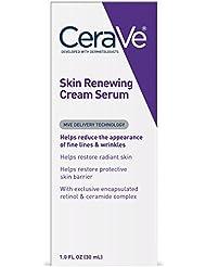 CeraVe Skin Renewing Cream Serum - Retinol Cream Serum & Face Moisturizer/Anti Aging Face Cream, Wrinkle Cream & Moisturizer for Face w Hyaluronic Acid, 1 oz