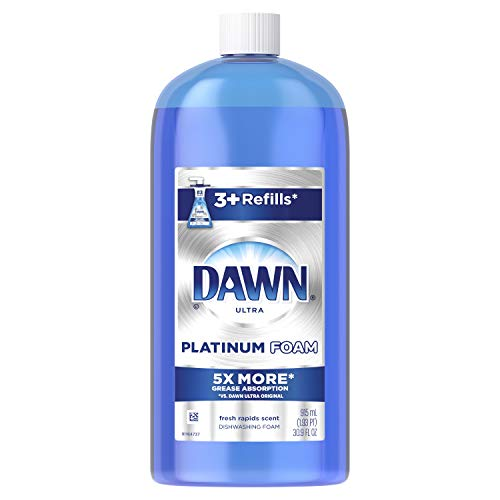 Dawn Ultra Platinum Foam Dishwashing Foam, Fresh Rapids Scent, 30.9 fl oz (Packaging May -