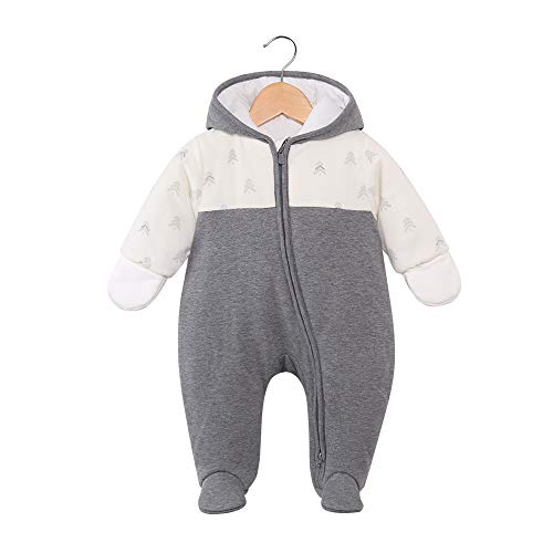 DDY Baby Winter Clothes Snowsuit Rompers Jumpsuit Zipper Hooded Footed Onesie Outwear Outfits Set Coat for Infant Boy…
