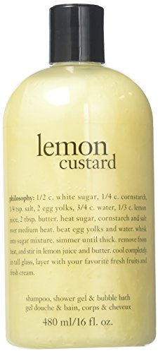 Philosophy Lemon Custard Shampoo/Shower Gel and Bubble Bath, 16 Ounce