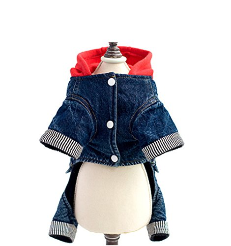 Uniquorn 2016 New Little Red Riding Hood Clothes Thicker Four-Legged Jeans Fall Winter Pet Clothes