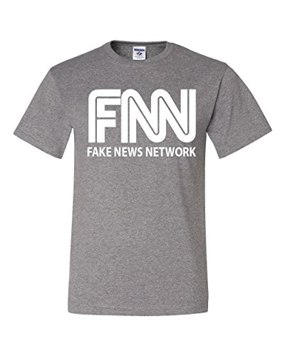 FNN Funny Parody T-Shirt Fake News Trump President Tee Shirt Gray XL
