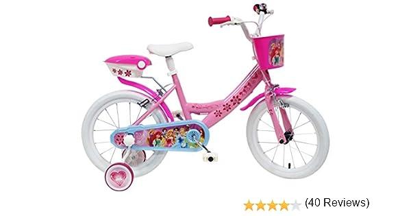Disney - Bicicleta con ruedines y Cesta: Amazon.es: Juguetes y juegos