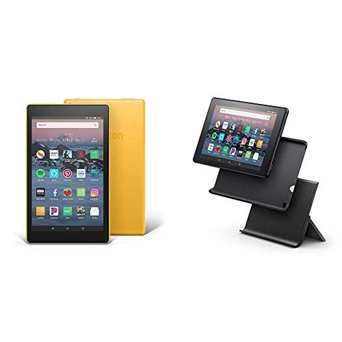 "Certified Refurbished Fire HD 8 Tablet (8"" HD Display, 32 GB) - Yellow with Show Mode Charging Dock"