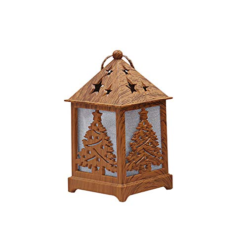Lywey Christmas Halloween Party Light Cabin Christmas Snow House with Light Wooden Cabin Decoration Home Garden -