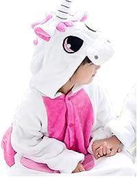 Kids Unisex Cosplay Pajamas Onesie Unicorn Costume