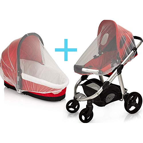 PREMIUM 2 PACK BABY MOSQUITO NET for Strollers, Carriers, Car Seats cover, Cradles, beds. Fits Most PacknPlays, Cribs, Bassinets & Playpens,Portable & Durable,Insect Netting