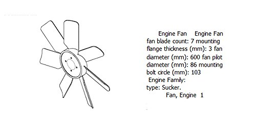 Engine fan 4931792 for diesel engine: