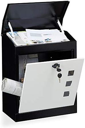 メールボックス 大規模なホームメールボックス屋外壁掛けレターボックスロック 住宅に適しています (Color : As Shown, Size : 24x52x43cm)