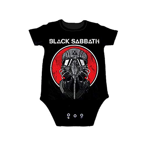 Tees Baby Rock (Black Sabbath Never Say Die Onesie, Black (12 Months))