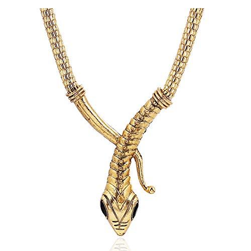 Fuerjia Men and Women Personalized Serpentine Diamond Chain Fashion Sweater Necklace (E04 ()
