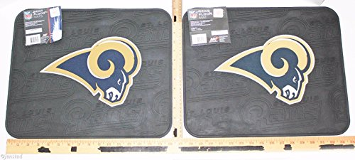 NFL St Louis Or LA Rams Football Rear Vinyl Floor Car Truck Mats