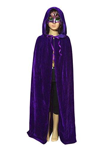 Acecharming Kids Long Hooded Cape Halloween Fancy Dress (Purple)