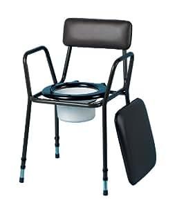 Patterson medical silla apilable con inodoro bajo for Amazon inodoros