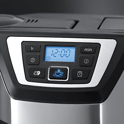 Russell Hobbs Machine à Café, Cafetière Filtre Semi Automatique, Moulin à Café, Ultra Silencieuse - 22000-56 Chester