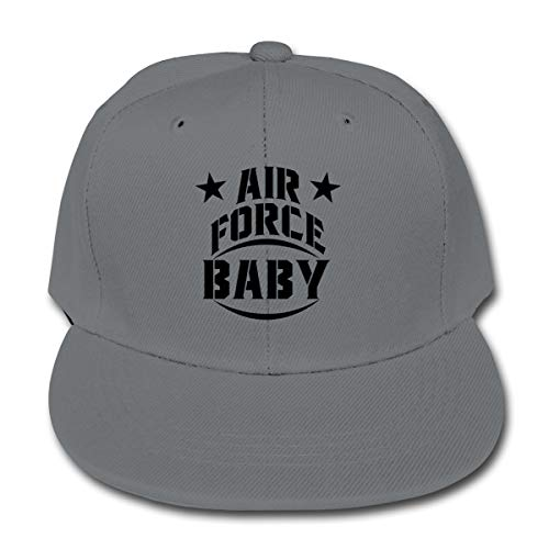 Chqeilng Oii Air Force Baby Solid Color Baseball Cap Adjustable Trucker Hat for Boys Girls Gray