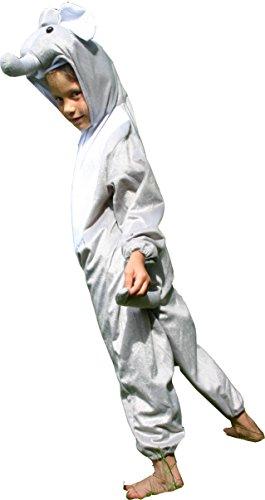 [Fun Play Fancy Dress Elephant Onesies Animal Costume 3-5 Years Size M] (Elephant Costume 4 Year Old)
