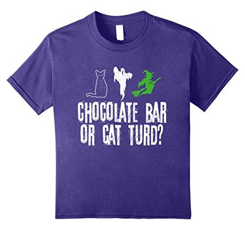 Group Candy Bar Halloween Costumes - Kids Chocolate Bar Or Car Turd? Funny Halloween T-shirt 10 Purple