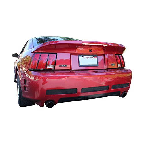 Ford Mustang 1999-2004 Sallen Style 1 Piece Polyurethane Rear Bumper manufactured by KBD Body Kits. Extremely Durable, Easy Installation, Guaranteed Fitment and Made in the (Bumper Installation Kit)