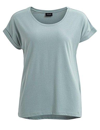 VILA VIDREAMERS - Damen T-Shirt basic - slate gray Gr. M