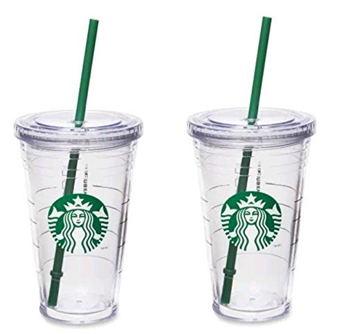 Starbucks Grande Insulated Travel Tumbler 16 OZ Double Wall Acrylic 2 Pack Set by Starbucks