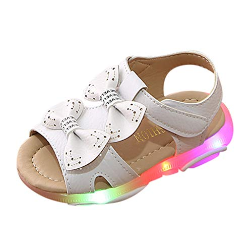 - Toponly Toddler Baby Girls LED Light-Up Beach Sandals Soft Sole Anti-Slip Casual Summer Luminous Casual Sneaker Shoes