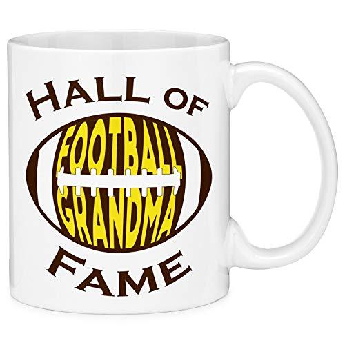 11oz Coffee Mugs Hall Of Fame Football Grandma Yellow Novelty Coffee Mug Tea Cup