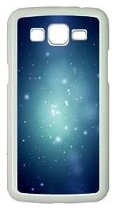Samsung Galaxy Grand 2 Case - Point Light Bokeh PC Hard Case for Samsung Galaxy Grand 2 / Samsung Galaxy 7106 - White